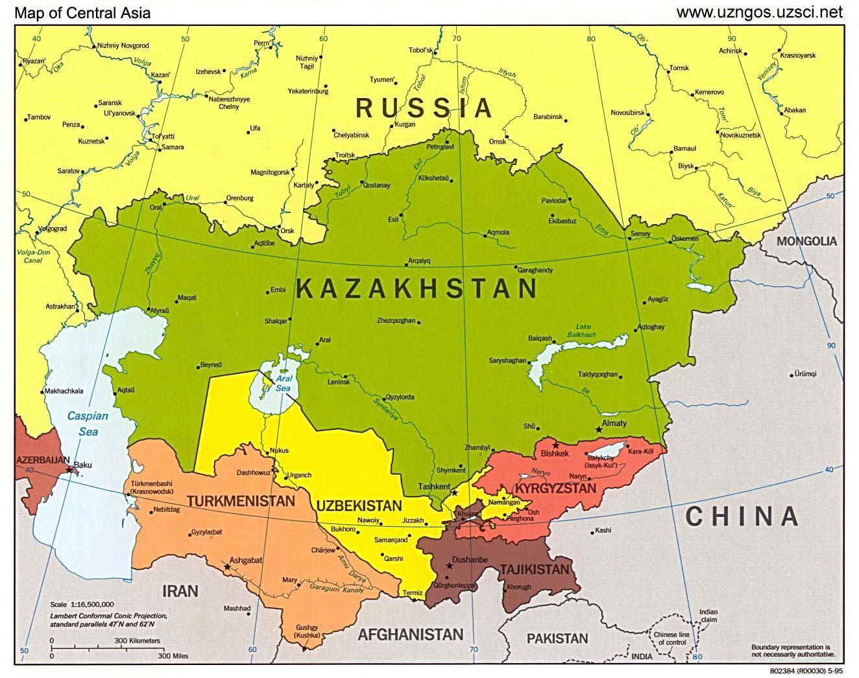 Kasakhstan Asien Kort Kort Over Kasakhstan Asien Kort